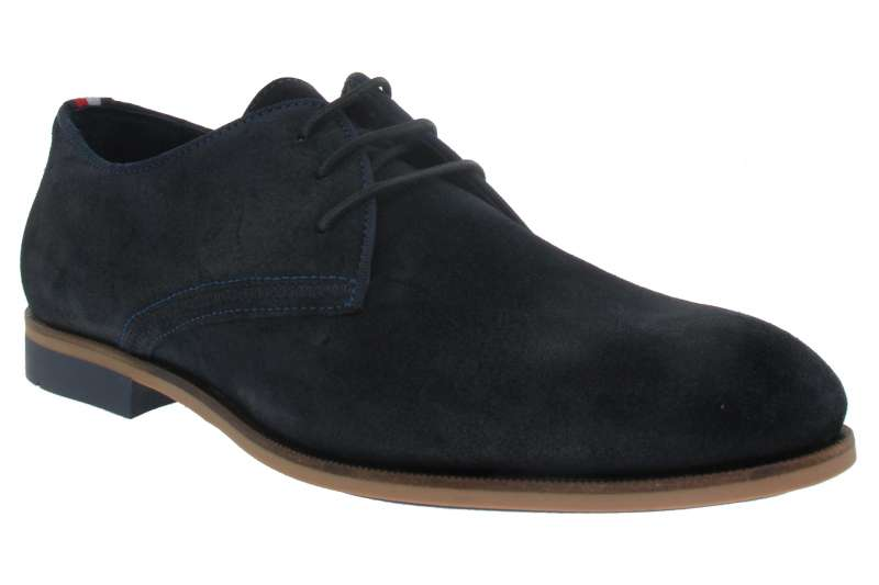 8185cd46ca TOMMY HILFIGER Celoroční pánská kožená obuv midnight - Shoemaker.cz