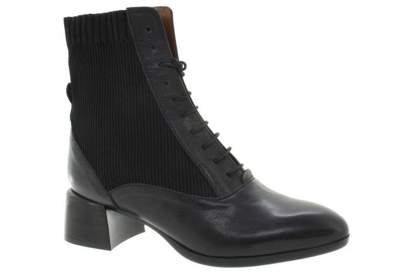 6751495ac8 HISPANITAS Dámská kožená kotníková obuv black - Shoemaker.cz