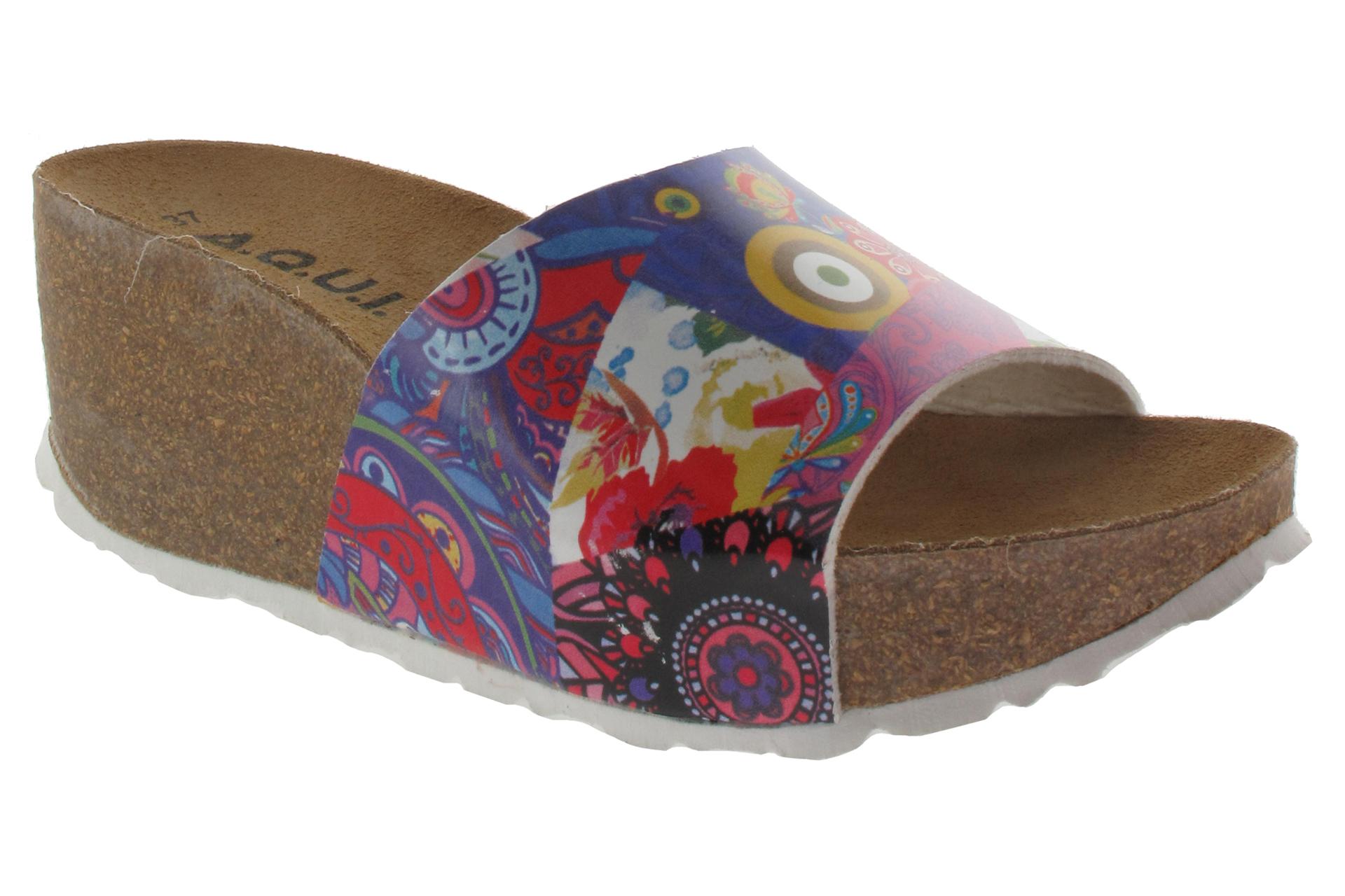 34c1c43fcfe AQUI Pantofle kožené na klínu disco   SHOEMAKER