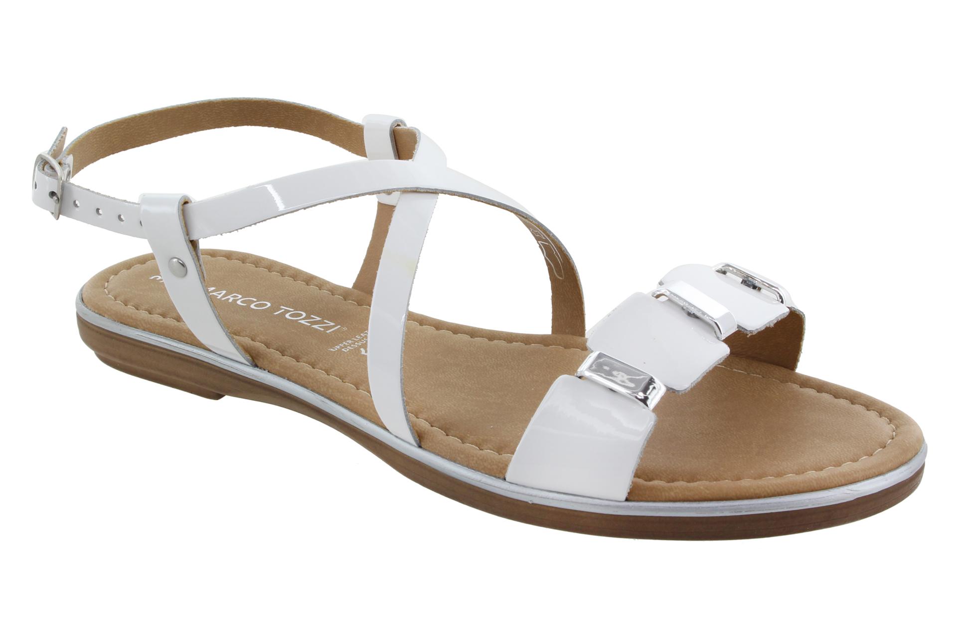 be701ba02f2e MARCO TOZZI Pásková kožená obuv white patent   SHOEMAKER