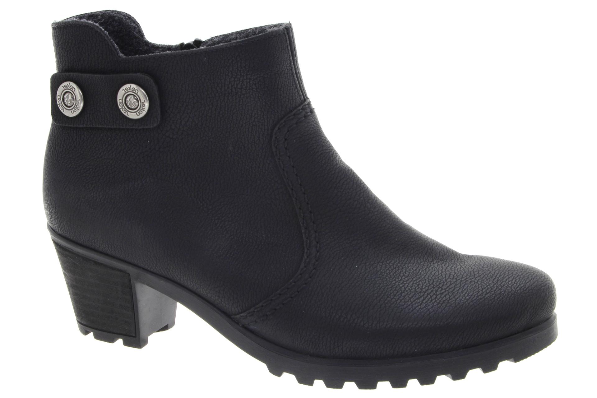 RIEKER Dámská kotníková obuv na podpatku schwarz   SHOEMAKER c6c3b57cad